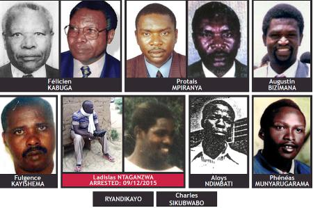 The fugitives wanted by the ICTR.