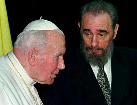 Castro with the Pope