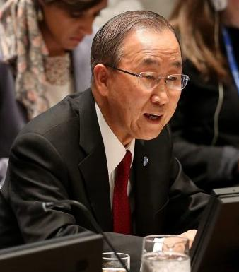 UN Secretary-General Ban Ki-Moon delivers his Security Council speech on Ebola