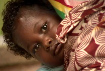 One of the three children of Mariatu. Her health status remains unknown - all because her mother is poor.