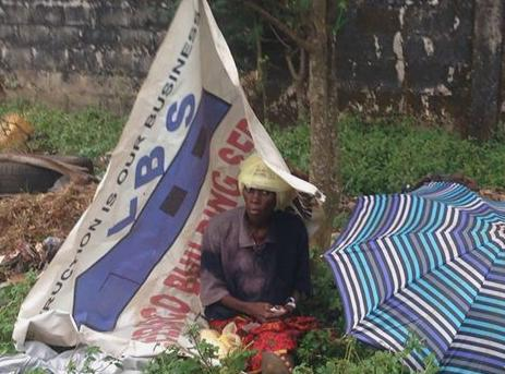 The plight of this woman - a Sierra Leonean was hihglighted by journalist Umaru Fofana. She later died.
