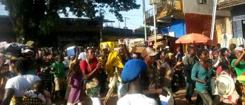They danced through the streets of Makeni saying the Ebola Virus Disease has been defeated.
