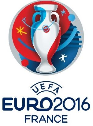 The Euro-2016 logo with the distinctive French theme.