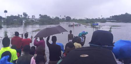 A view of the floods in the south and east of Sierra Leone captured by journalist Umaru Fofana.