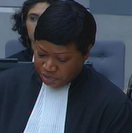 ICC Prosecutor Fatou Bensouda says she's sending a message that impunity would not be encouraged.