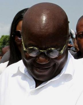 The man declared loser by the Ghana electoral body Akufo-Addo