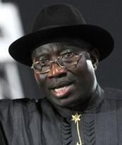 Nigerian President Goodluck Jonathan - we wish him well
