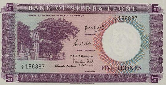 This five-leone note was rare among ordinary people under Gordon Hall