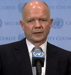 UK Foreign Secretary Hague supports the campaign to bring perpetrators to justice.