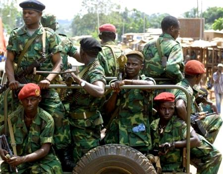Bemba's troops - such a picture is all too familiar to the victims of similar atrocities committed in Sierra Leone.