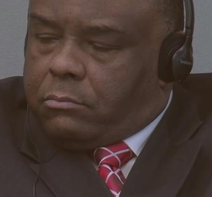 The former war lord and DRC Vice President in court. He's now a convicted war criminal.