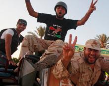 Libyan rebels on the way to Tripoli