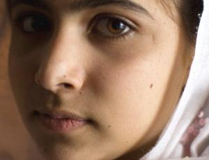 Malala Yousafzai - the teenager shot in the head by the Taliban for advocating formal education for the girl child.