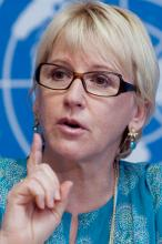 The outgoing former UN Under-Secretary General on Sexual Violence in Conflict Margot Wallstrom of Sweden