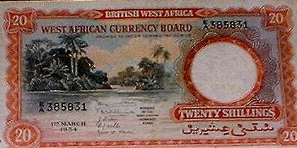This was legal tender across English-speaking West Africa and the UK