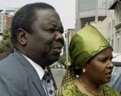 The late Susan and Mr Tsvangirai - Photo: AP