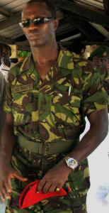 Civilian Defence Minister Conteh - training men for 2012?