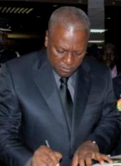 The former Vice President Mahama is now President of Ghana