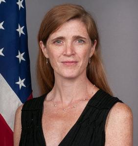US envoy at the UN Samantha Power. Her country presented the draft resolution to the Security Council which was adopted 15-0.