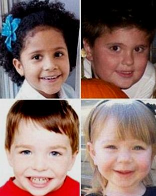 Some of the victims from photos released - these from the online pages of the UK Daily Mail