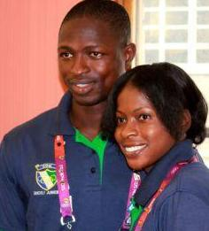 Our 2-person Olympic team Ola and Ibrahim. Well done...well done. Photo: Sierra Express Media