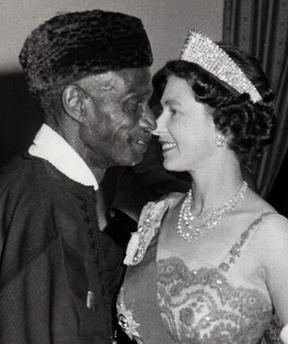 Sir Milton in a dance with HRH the Queen of the United Kingdom