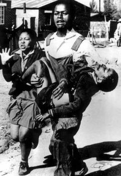 The iconic picture that reminds us of the tyranny of apartheid.