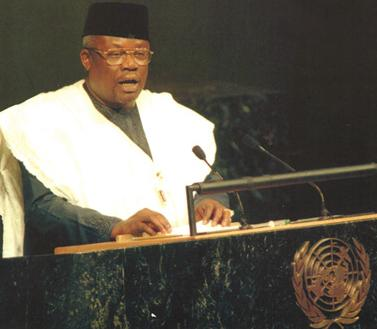 Former Nigerian Foreign Minister Tom Ikimi - he was a target for kidnapping by the junta in Sierra Leone in 1997.