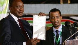 Uhuru Kenyatta is declared the winner of controversial Kenya polls. He faces trial at the ICC.