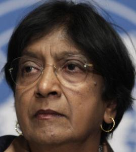 South African Navanethem Pillay is the UN High Commissioner for Human Rights