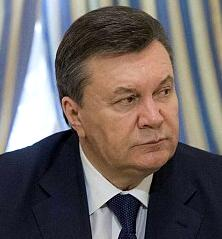 Fugitive former Ukranian President Viktor Yanukovych. Wanted for murder and other crimes.