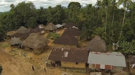 One of the many remote villages to be covered if the Ebola virus is to be defeated.